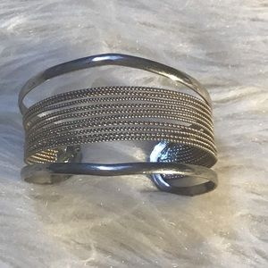 5 For $15 Vintage Silver Tone Cuff Bracelet